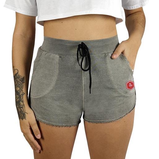 Shorts Moletom Feminino Estonado WSS Hex Colors Gray