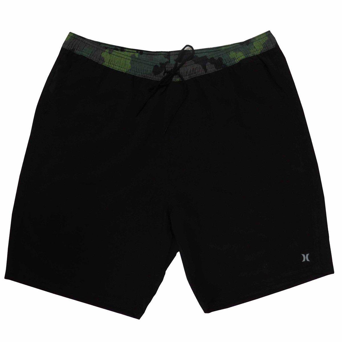 Shorts Praia Masculino Hurley Camo Oversize Hunter Black