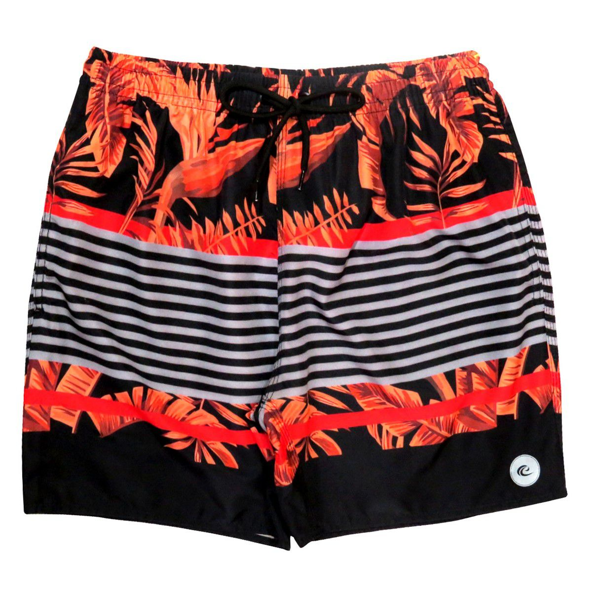 Shorts Praia Masculino WSS Waves Flowers Lines Red 17