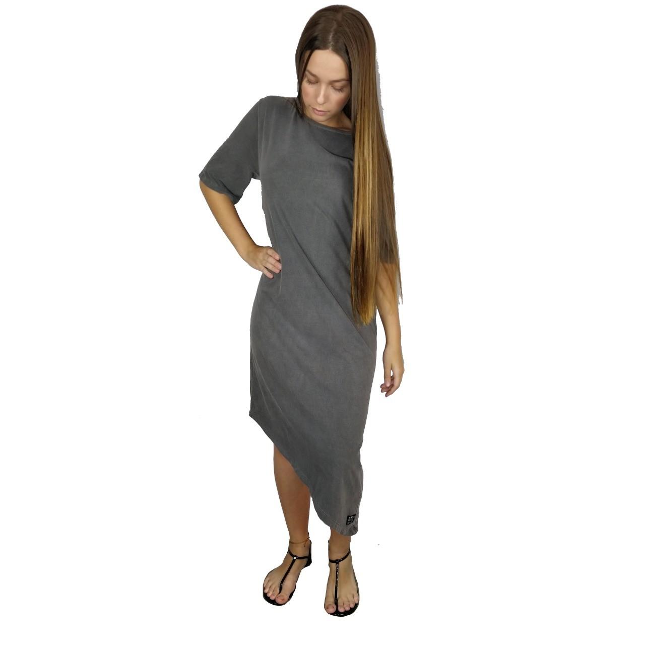 Vestido Mid Bico Estonado WSS Brasil Chumbo