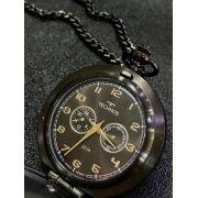 Relógio de Bolso Technos VD77AB/4P Classic PRETO