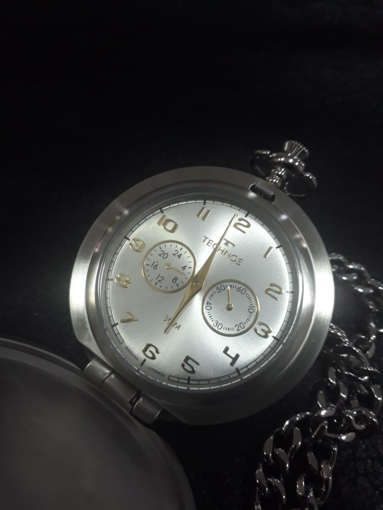 Relógio de Bolso Technos VD77AC/4X Classic STEEL