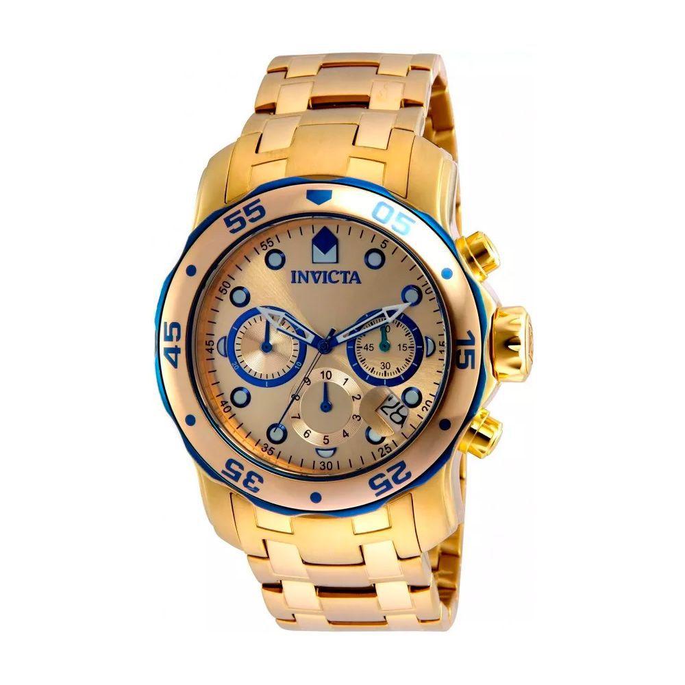 Relógio Invicta 80069 Pro Diver Masculino Banhado Ouro 18k