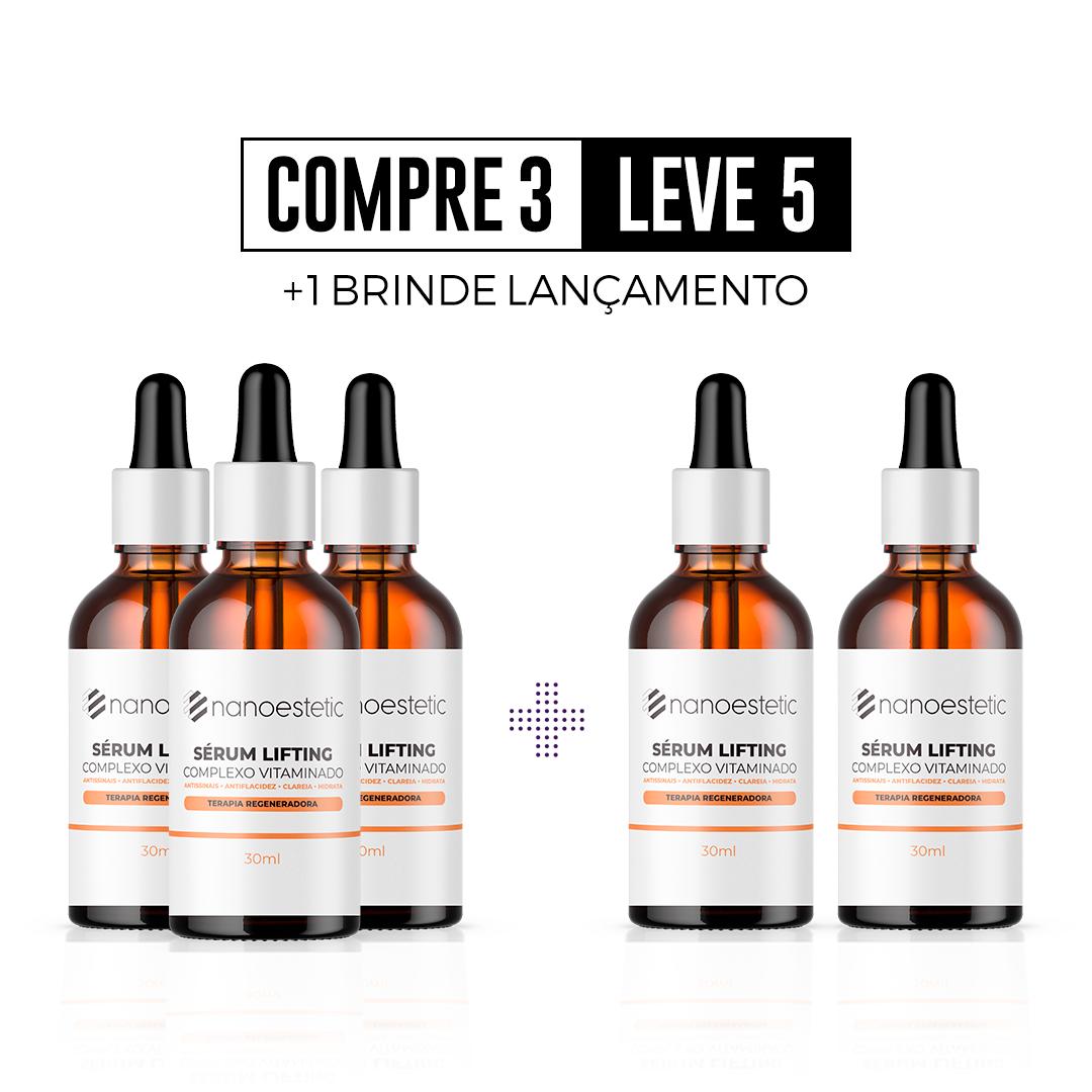 Compre 3 e Leve 5 - Sérum lifting - 5 Meses de tratamento + Brinde Lançamento