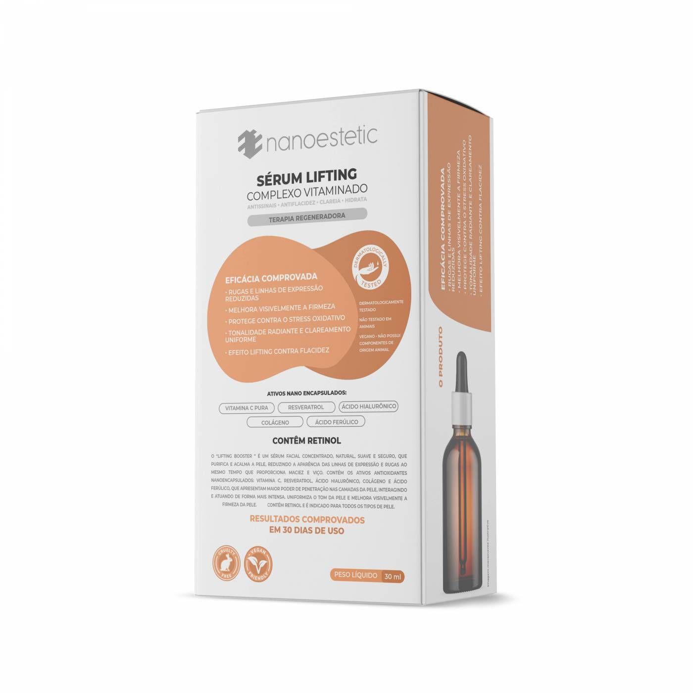 Sérum lifting - Complexo Vitaminado - 30 Dias de tratamento