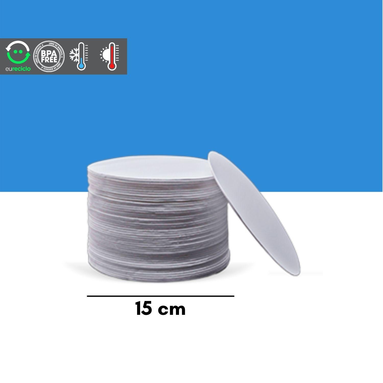Disco 15 cm isopor branco EPC para bolo 400un - TotalPlast