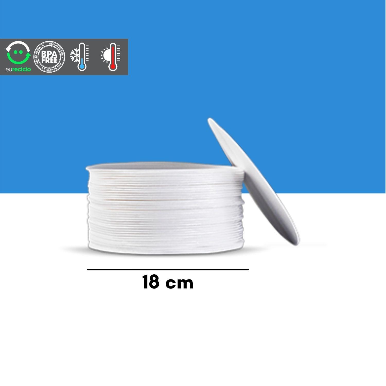 Disco 18 cm isopor branco EPC para bolo 400un - TotalPlast