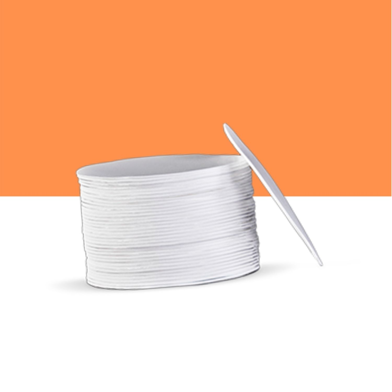 Disco 20 cm isopor branco EPC para bolo 400un - TotalPlast