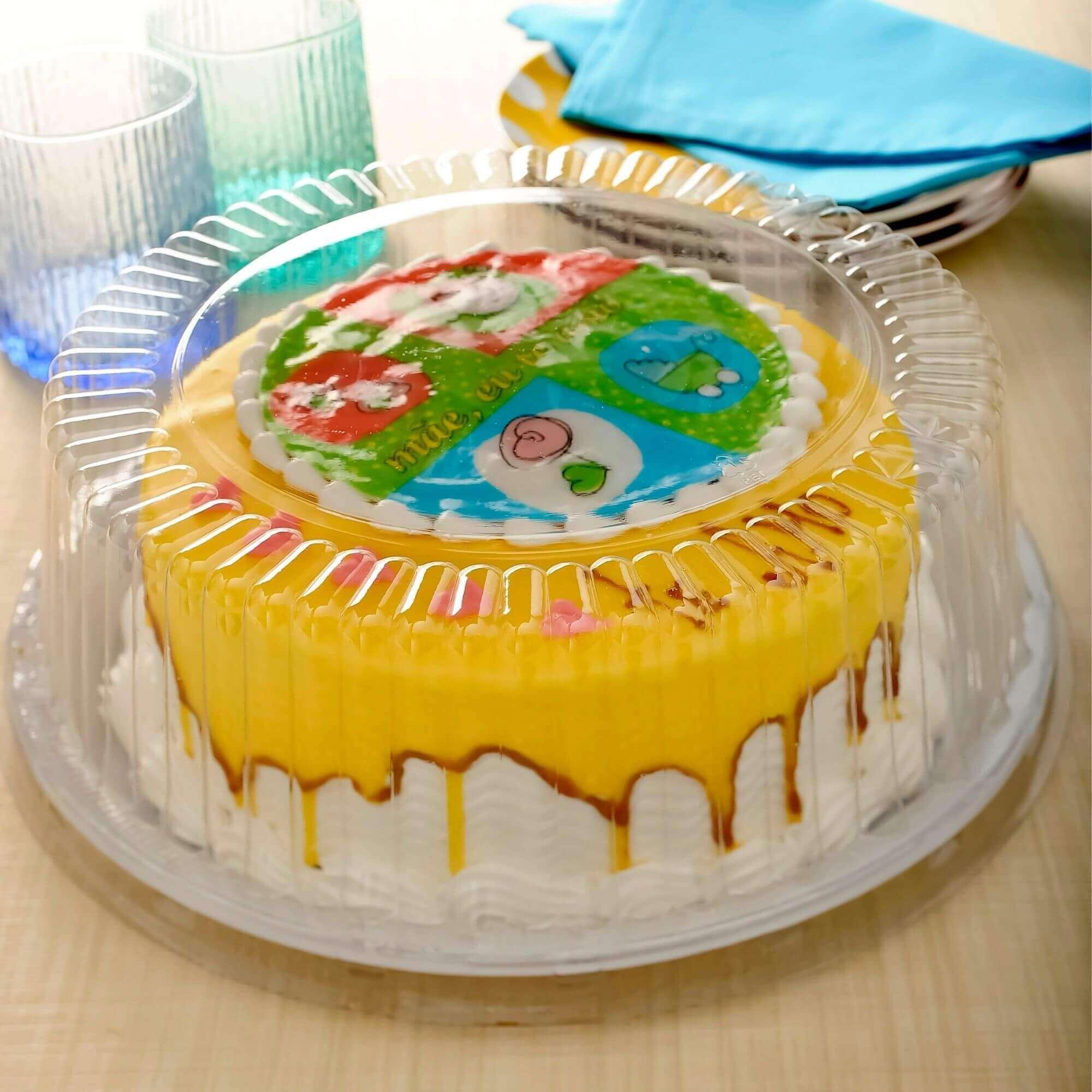 Embalagem bolo caseirinho forma aro 23 até 2kg - G56 Galvanotek