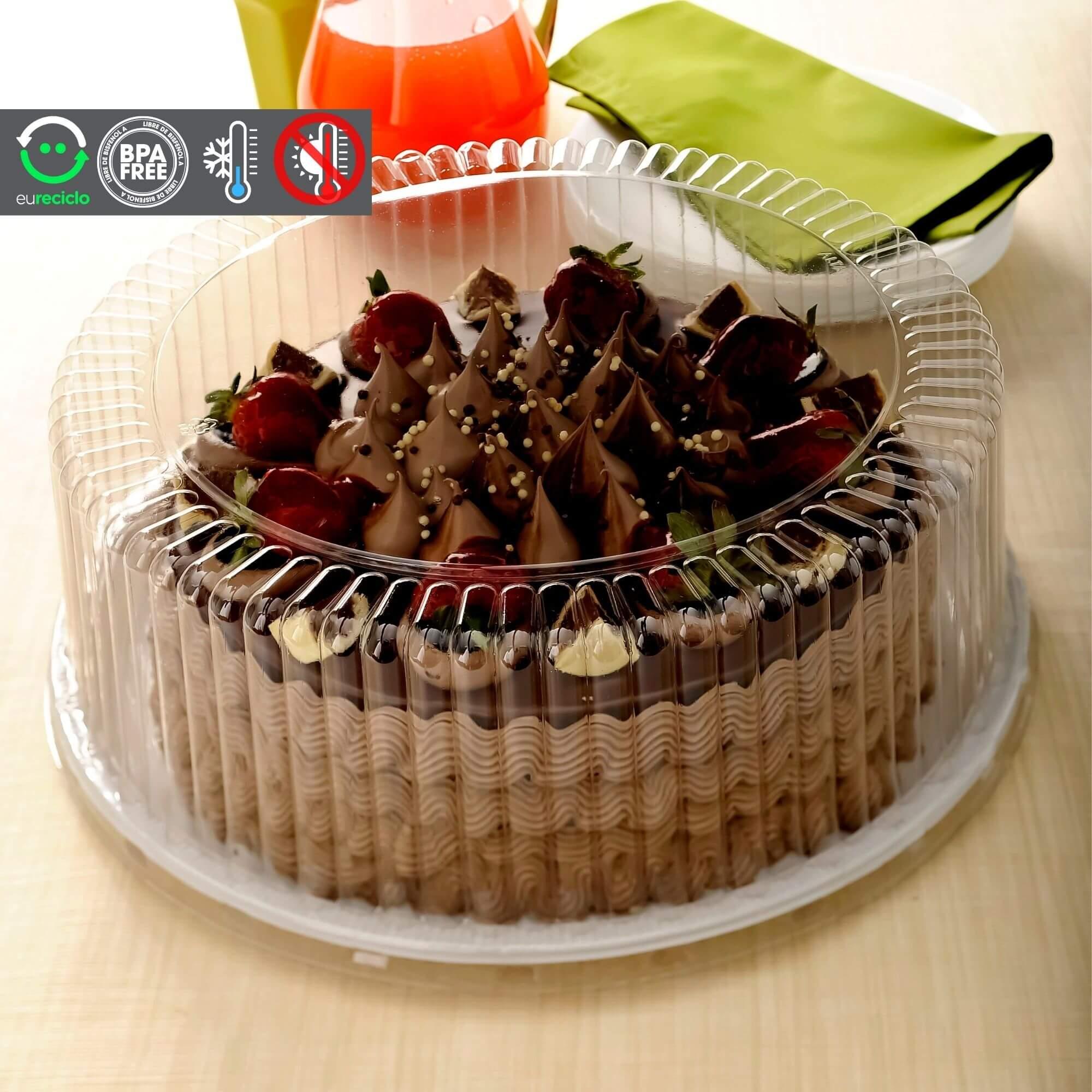 Embalagem bolo confeitado 30un forma aro 27 até 4kg - G80 Galvanotek