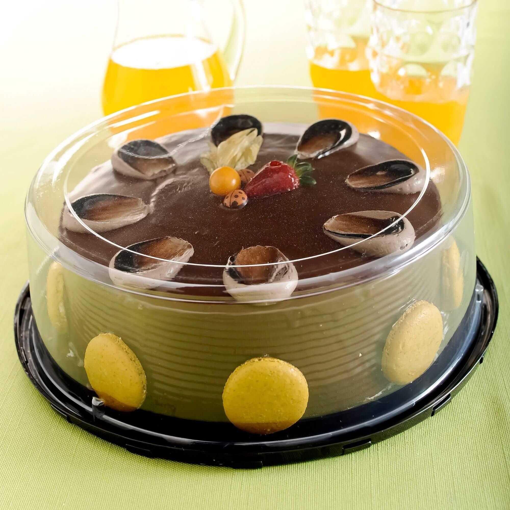 Embalagem bolo confeitado 50un. forma aro 25 até 2,2kg- G60 Galvanotek