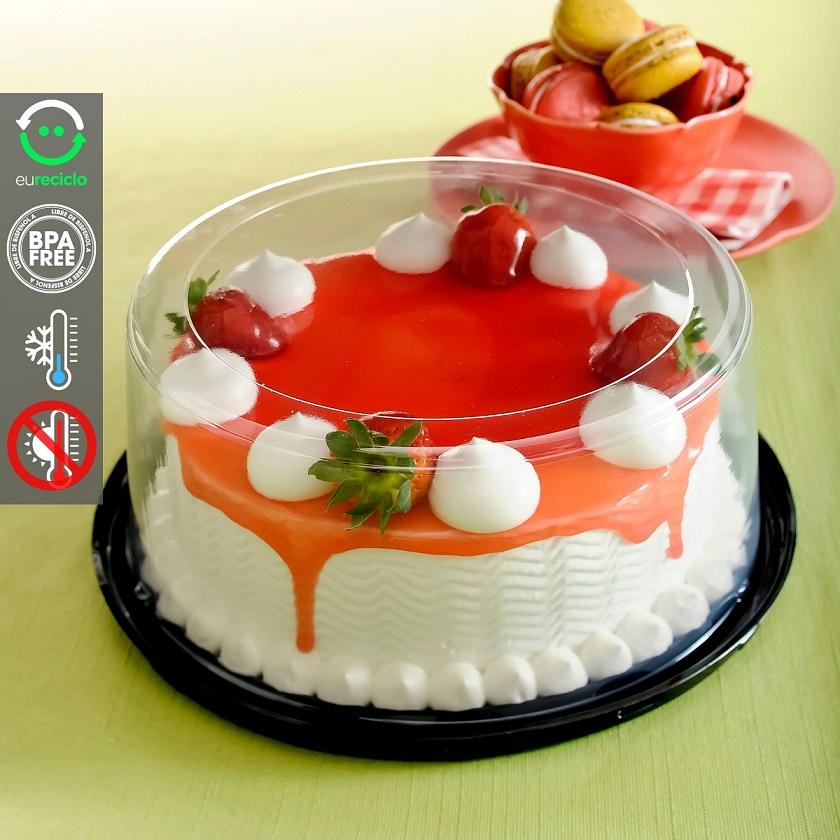 Embalagem bolo confeitado forma aro 20 até 1,5kg - G50 Galvanotek