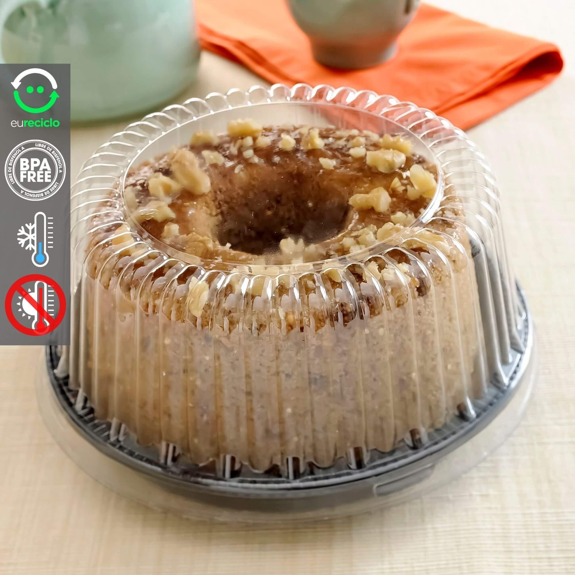 Embalagem bolo pequeno redondo 15cm e 500g - G35 Galvanotek