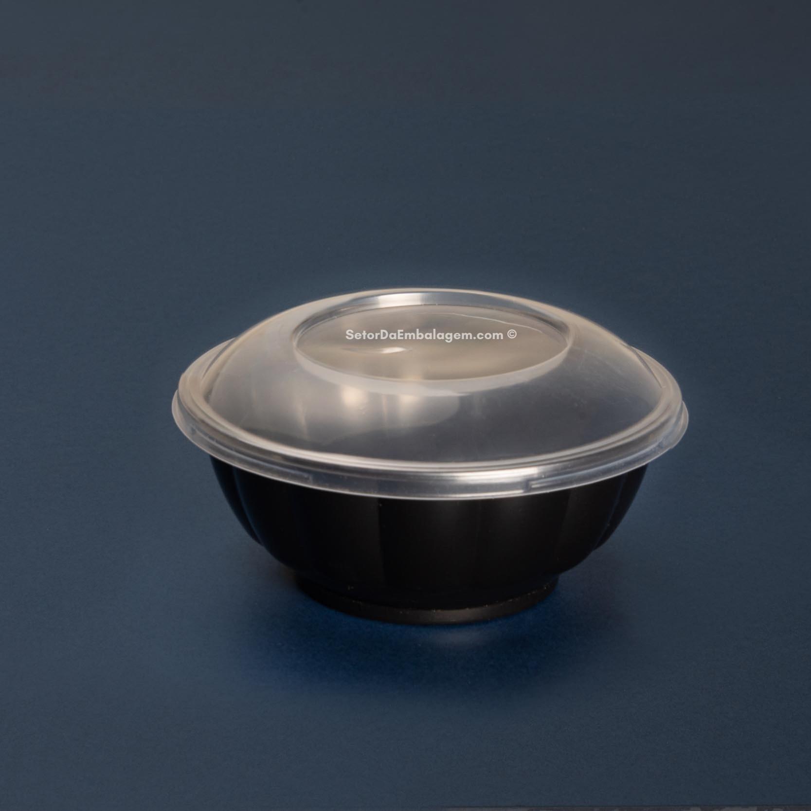 Embalagem bowl preto para poke 150 unidades - Galvanotek GO925
