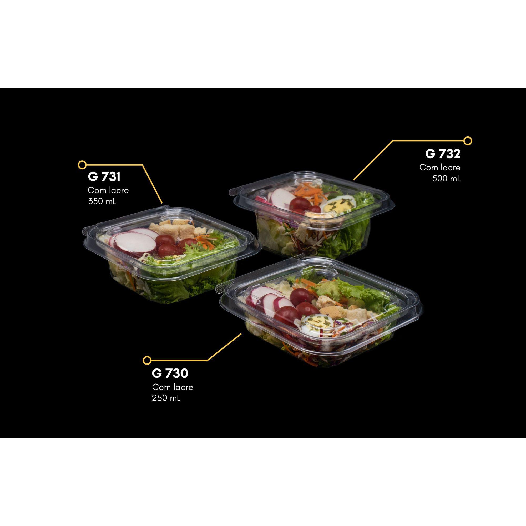 Embalagem com lacre para salada 100un - Galvanotek G730 G731 e G732