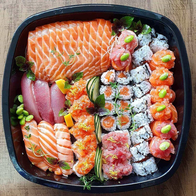 Embalagem combinado grande comida japonesa 50un - Galvanotek GO920