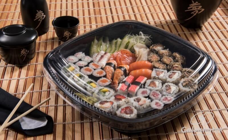 Embalagem combinado grande comida japonesa 50un - Galvanotek GO 920