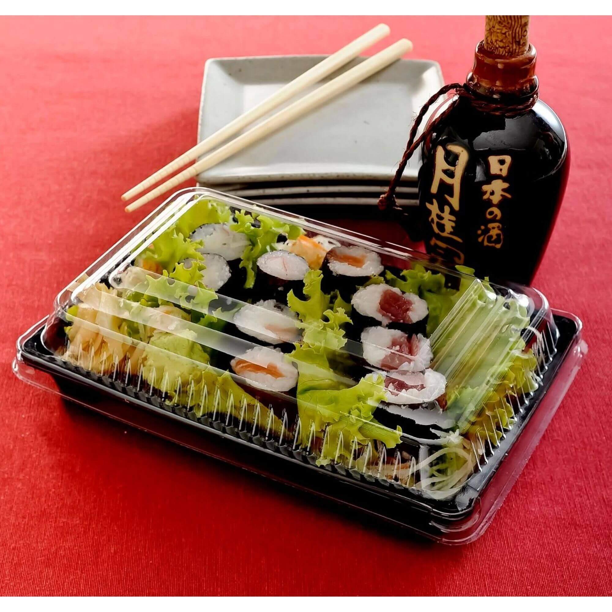 Embalagem comida japonesa 910mL 100un - Galvanotek GO915