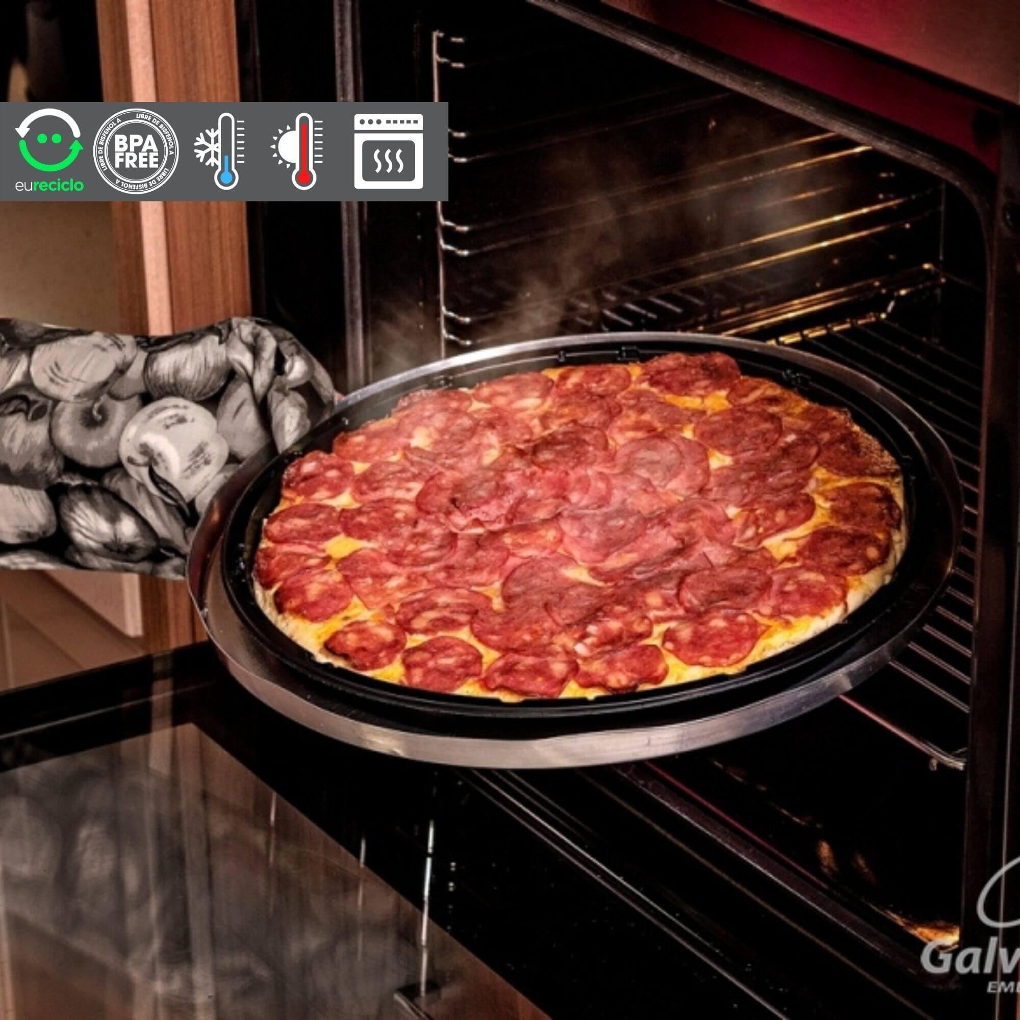 Embalagem de Pizza que vai ao forno a gás Galvanotek G230