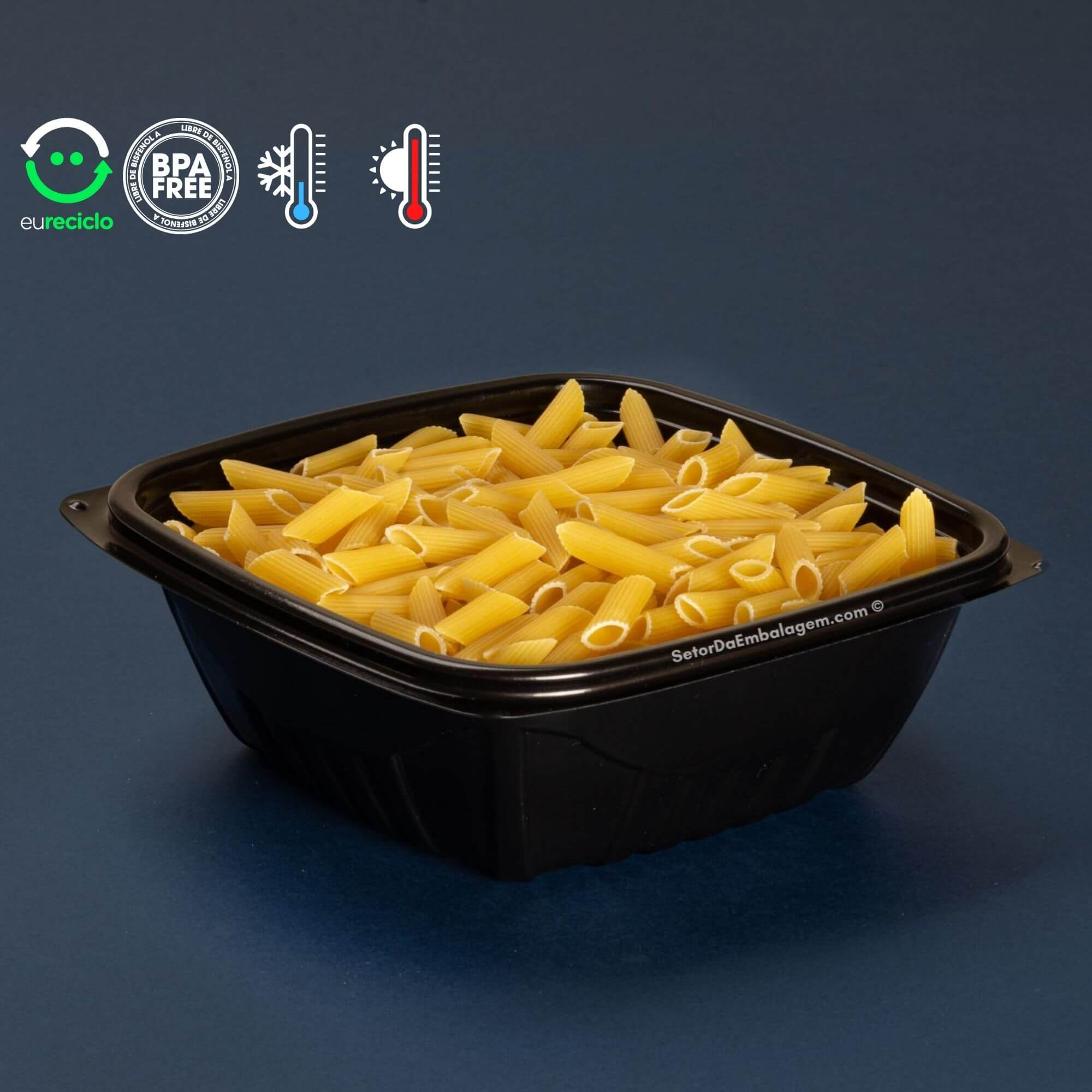 Embalagem delivery risoto e massas 100un. freezer e microondas - Galvanotek G337