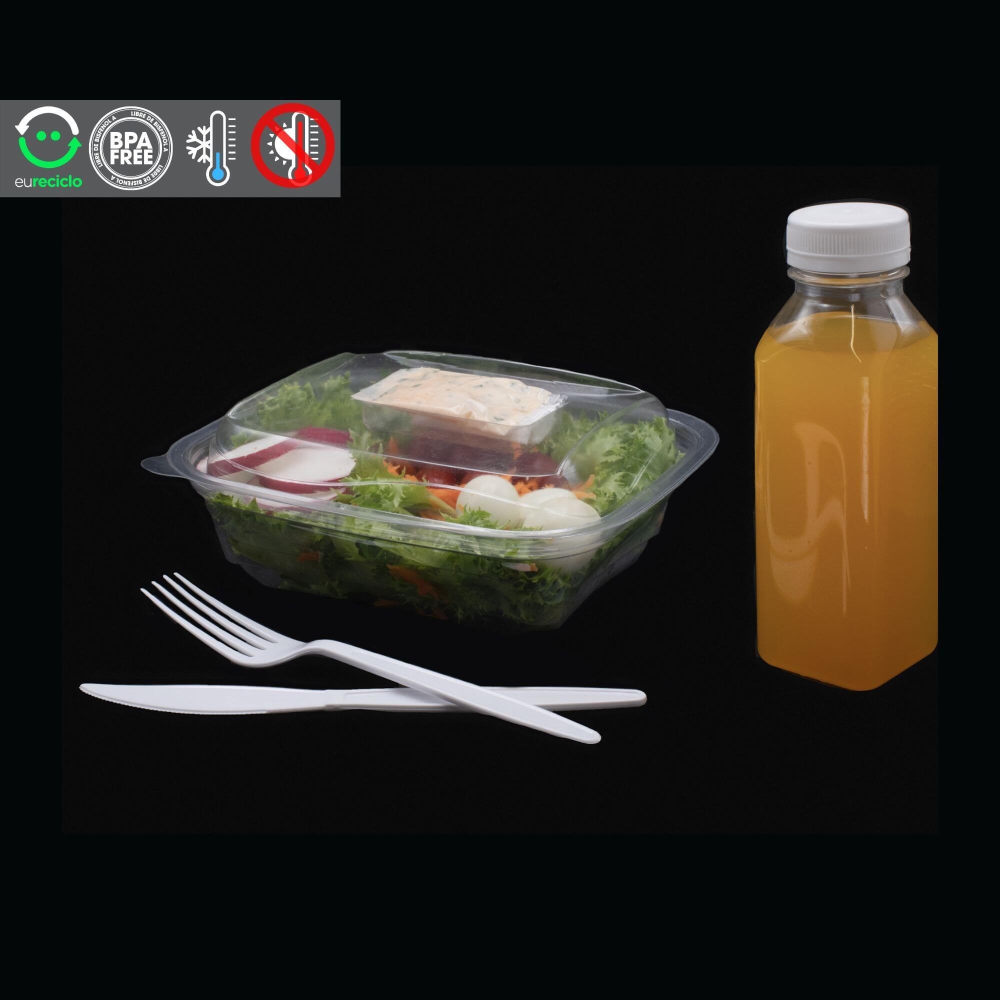 Embalagem estojo delivery salada 1000mL 180 unidades - Galvanotek G24