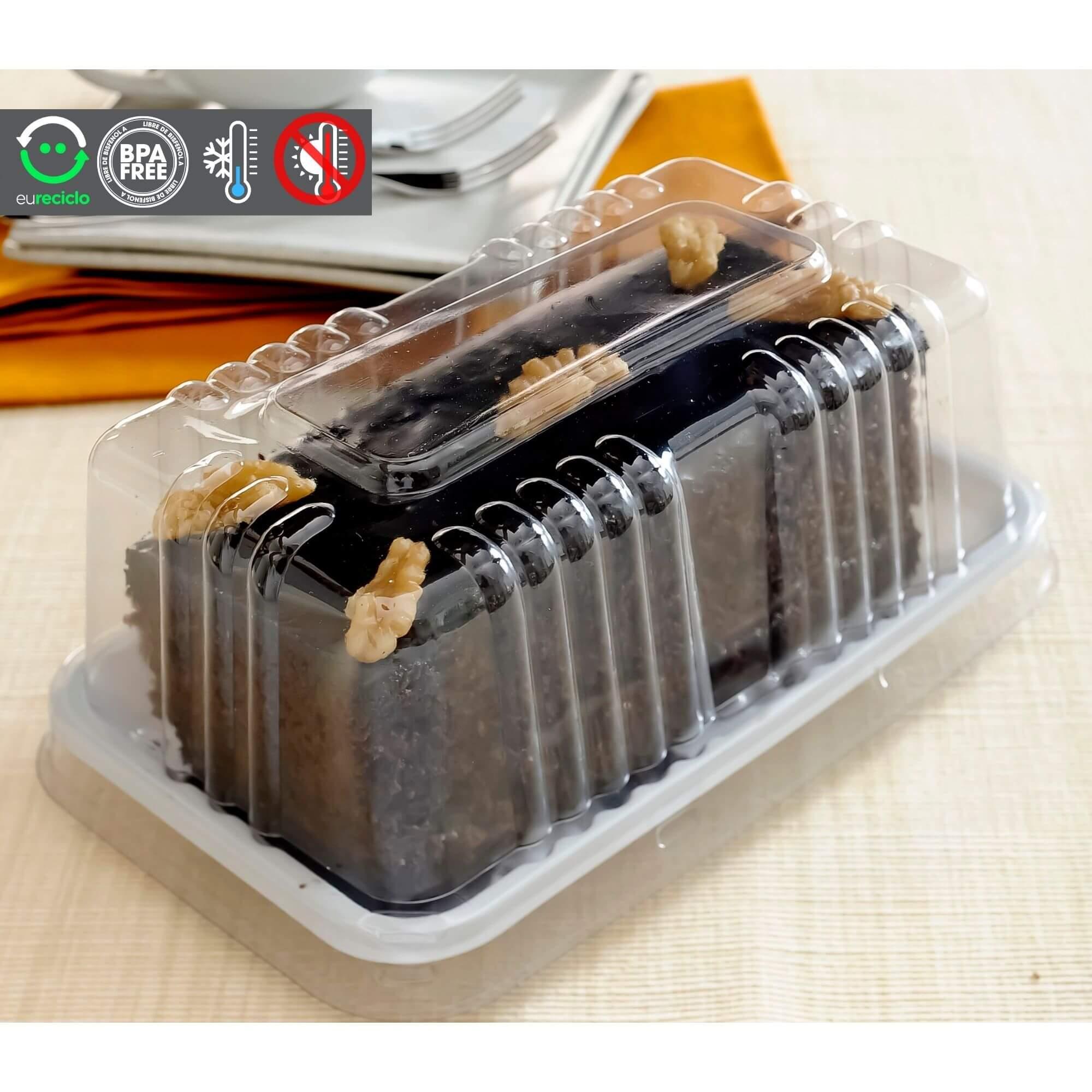 Embalagem fatia de bolo quadrada 200g 150un - Galvanotek G62