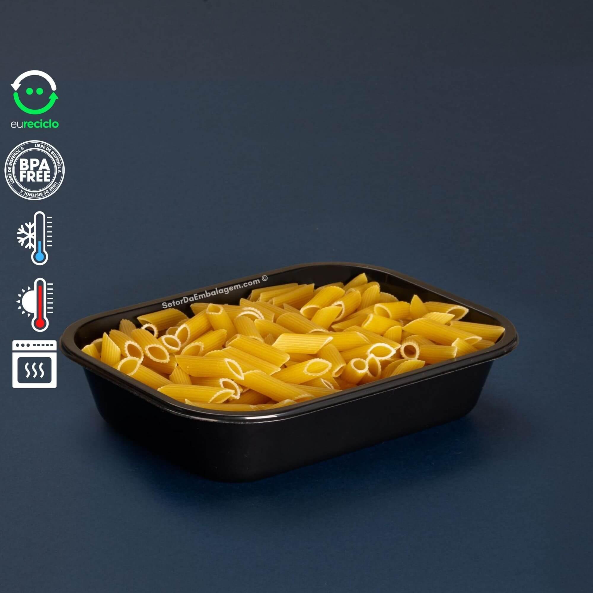 Embalagem Forneável 800mL forno a gás, microondas e freezer - Galvanotek G240