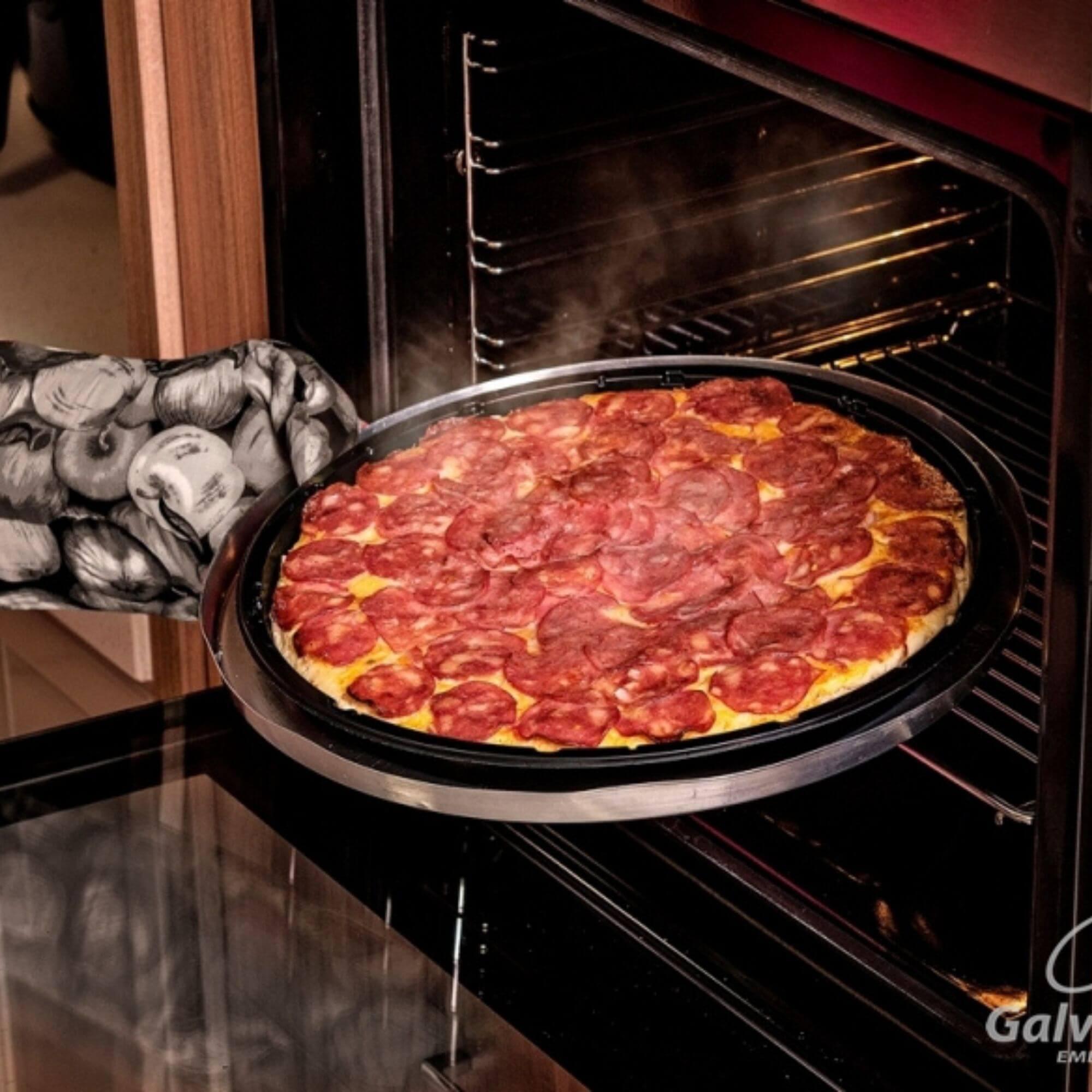 Embalagem Forneável para Pizza forno a gás - Galvanotek G230