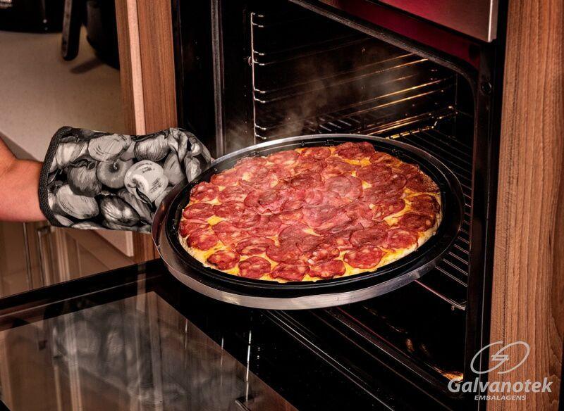 Embalagem Forneável para Pizza forno a gás - Galvanotek G 230