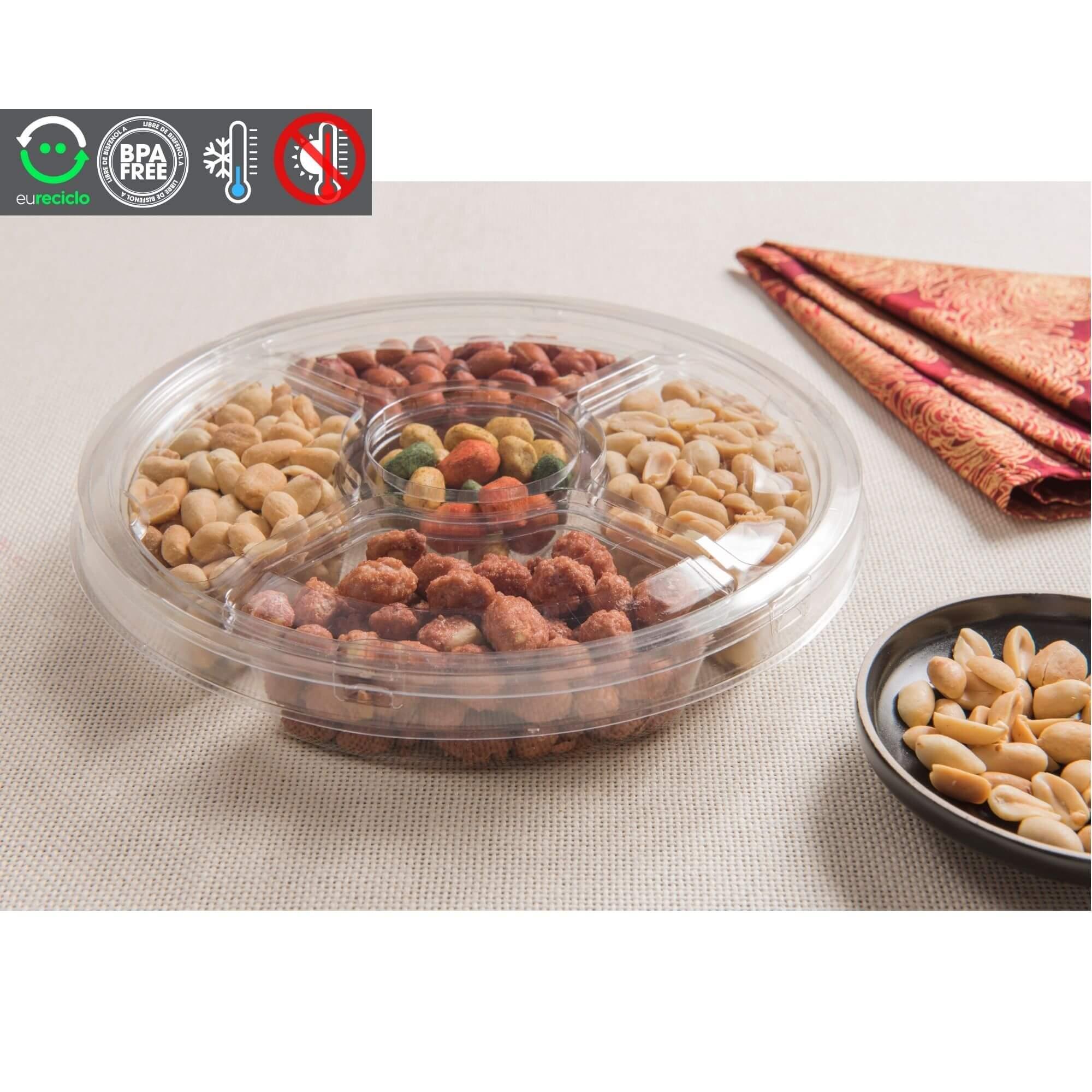 Embalagem para fondue e petisuqeira com divisória - GALVANOTEK G540