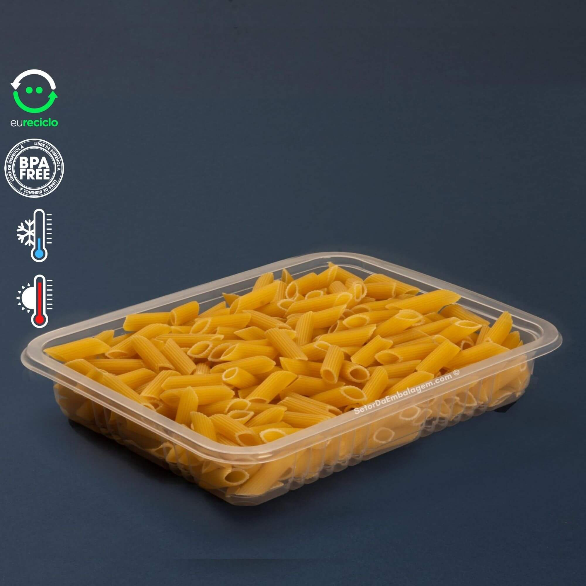 Embalagem para marmita 1000mL rasa 100un  Galvanotek G301