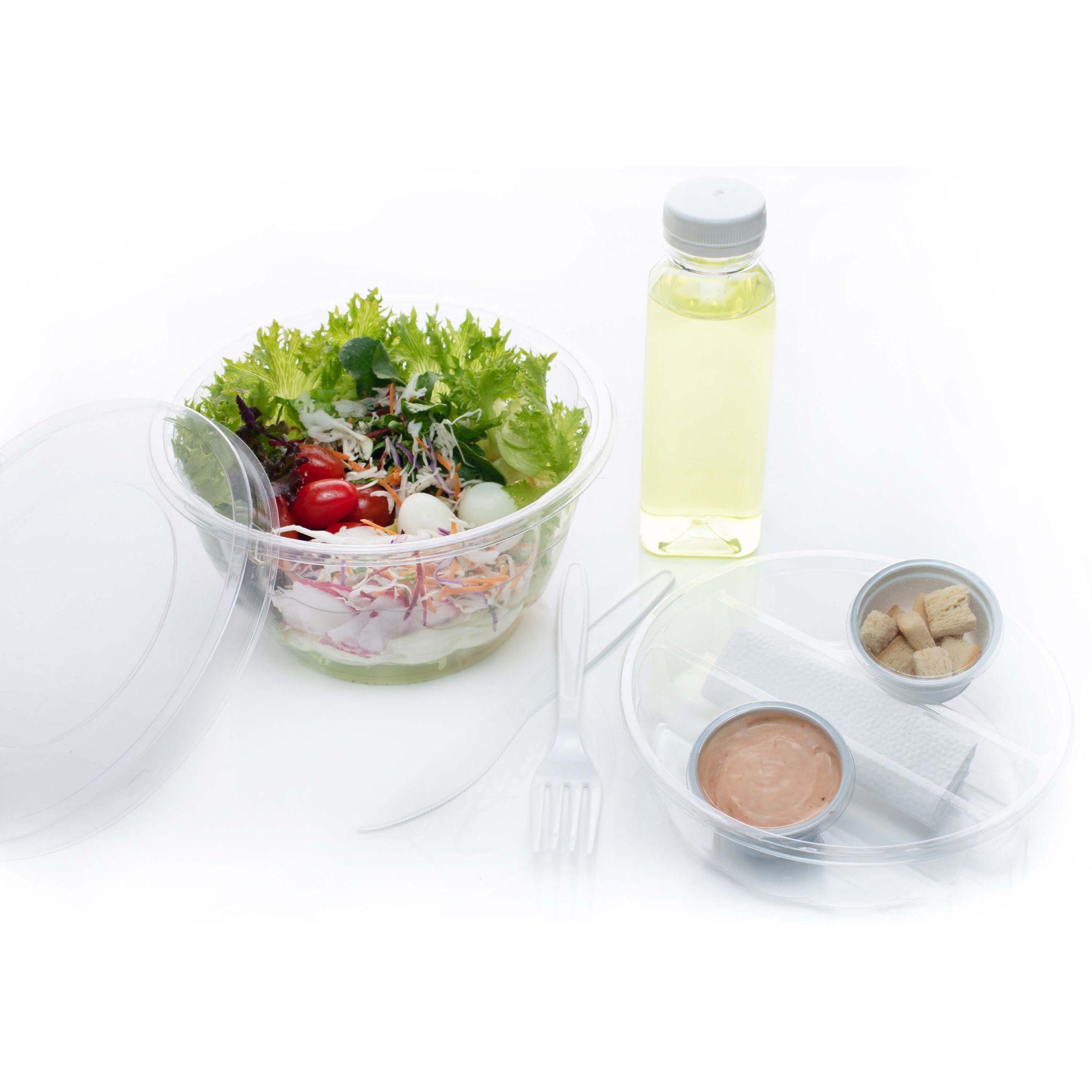 Embalagem para salada com divisória para delivery - Galvanotek G633