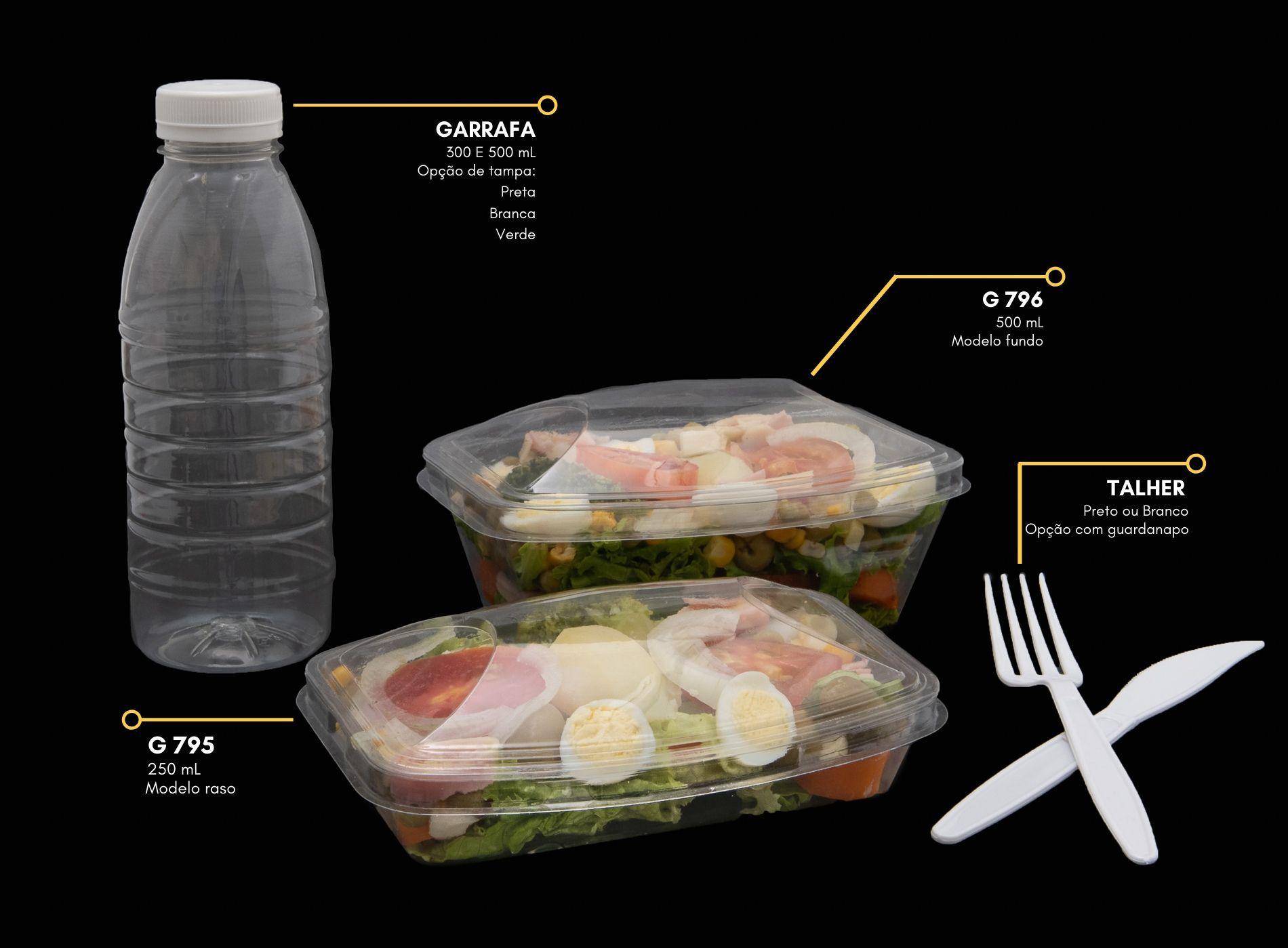 Embalagem para salada, mousse e doces - Galvanotek G795 G796