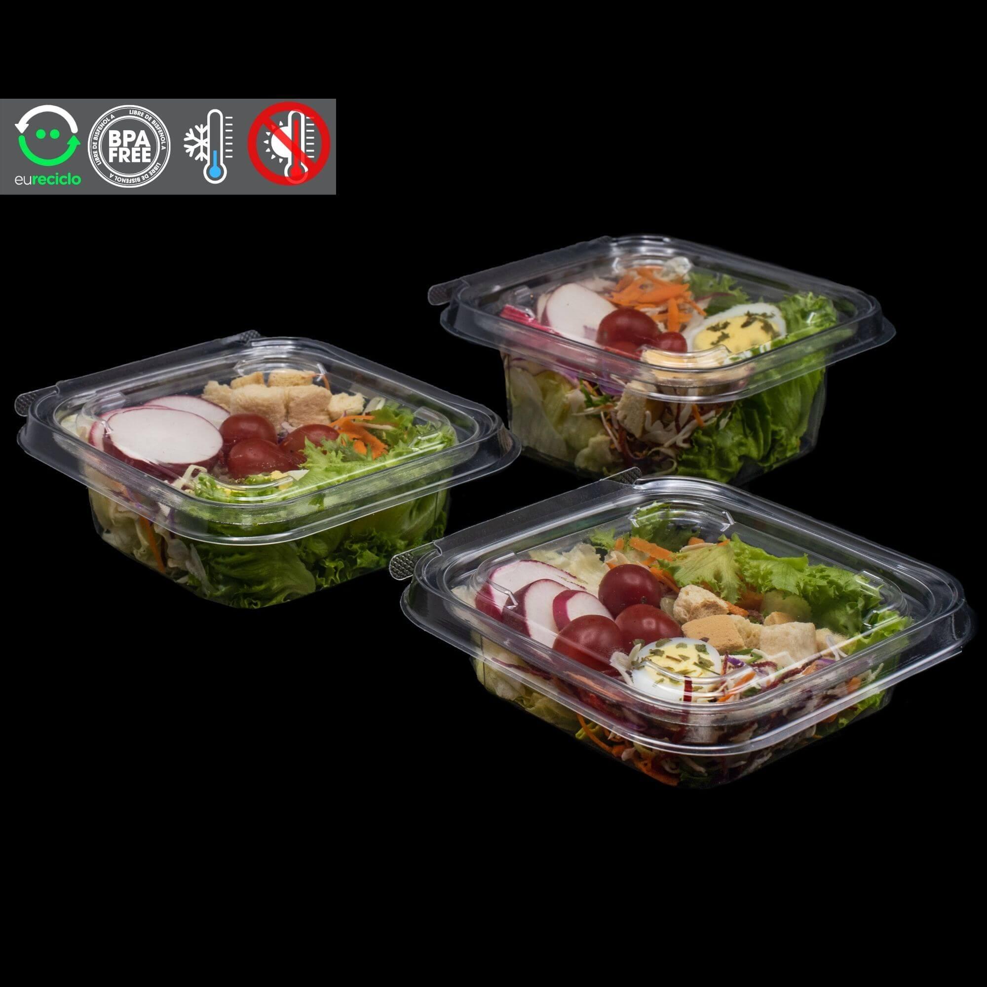 Embalagem quadrada com lacre para salada 100un - Galvanotek G730 G731 G732