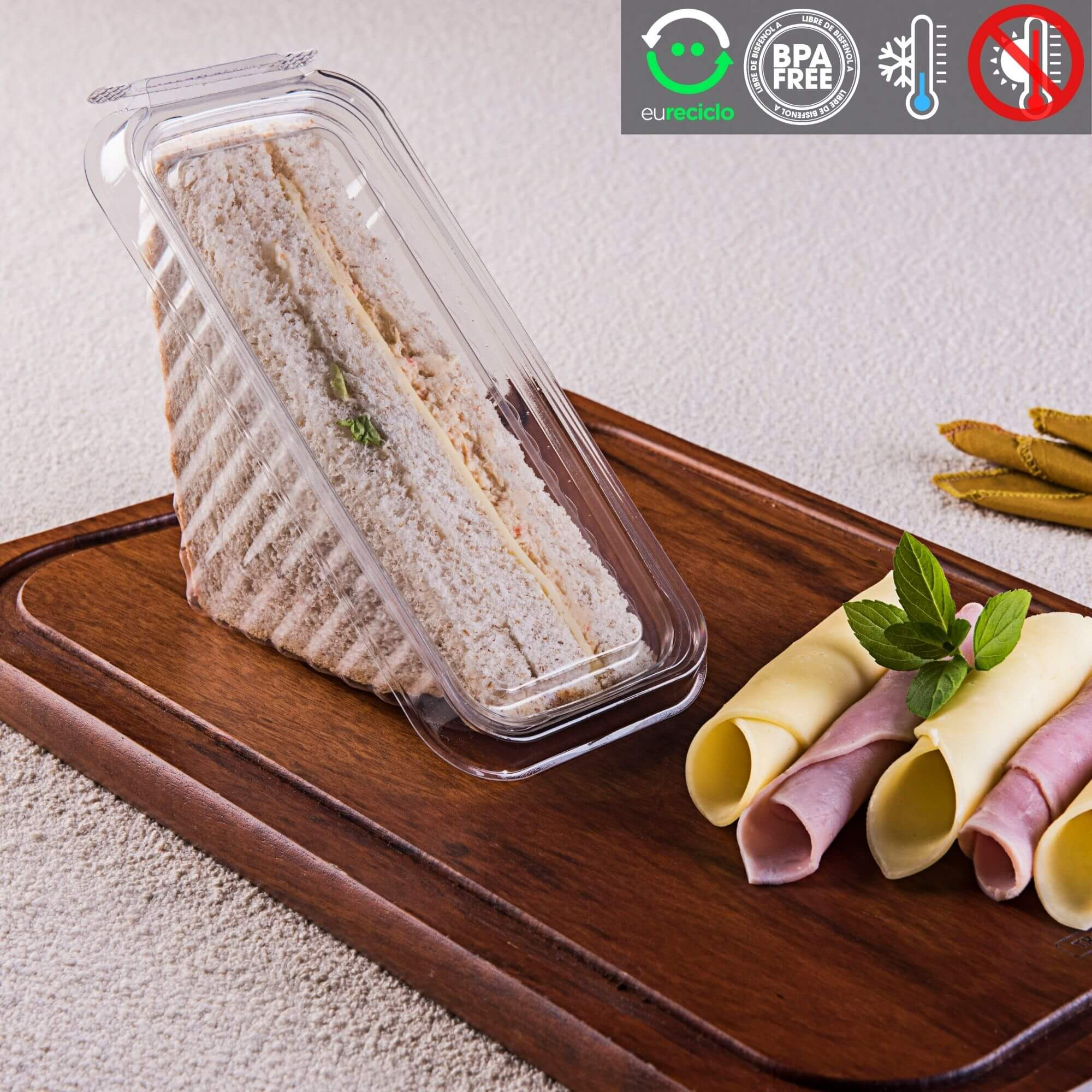 Embalagem sanduíche natural com lacre - Galvanotek G565