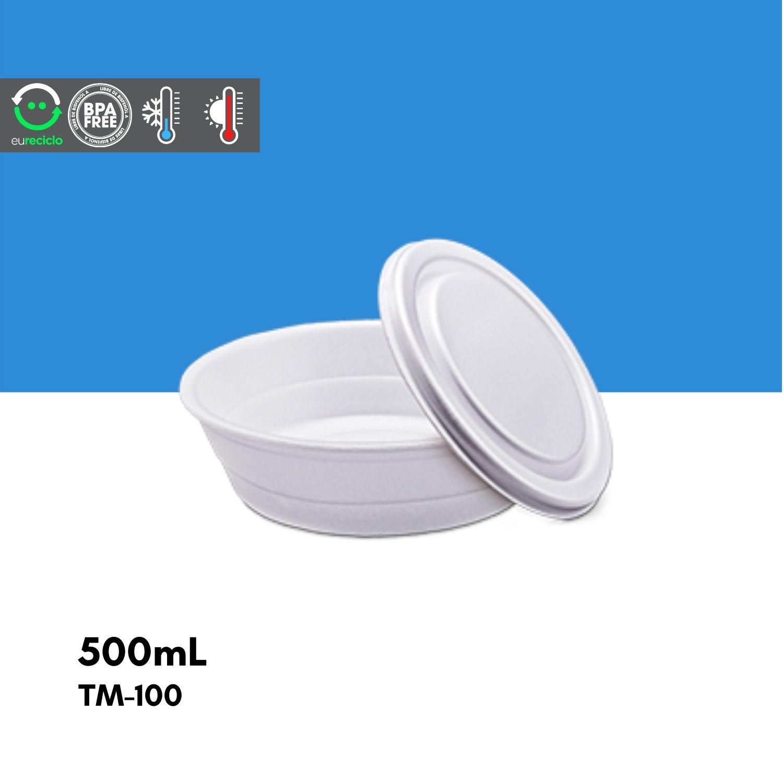 Marmitex número 7 isopor 500mL 100 unidades  TM100 TotalPlast