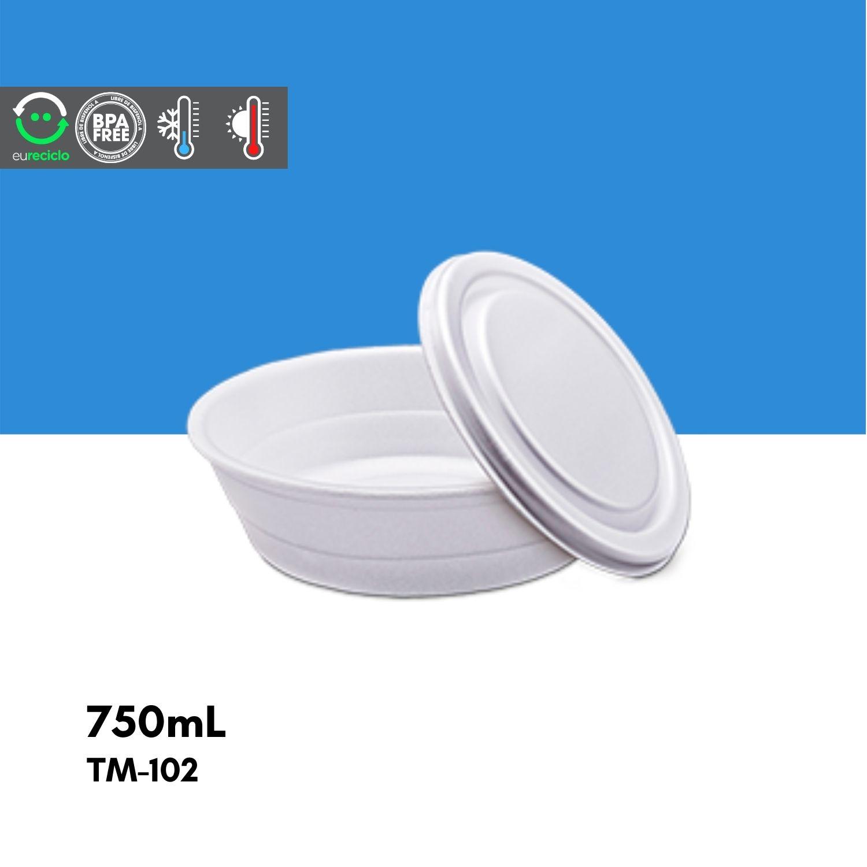 Marmitex número 8 750mL - 100 unidades TM102 - TotalPlast