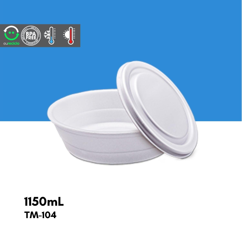 Marmitex número 9 1100mL - 100 unidades TM104 - TotalPlast