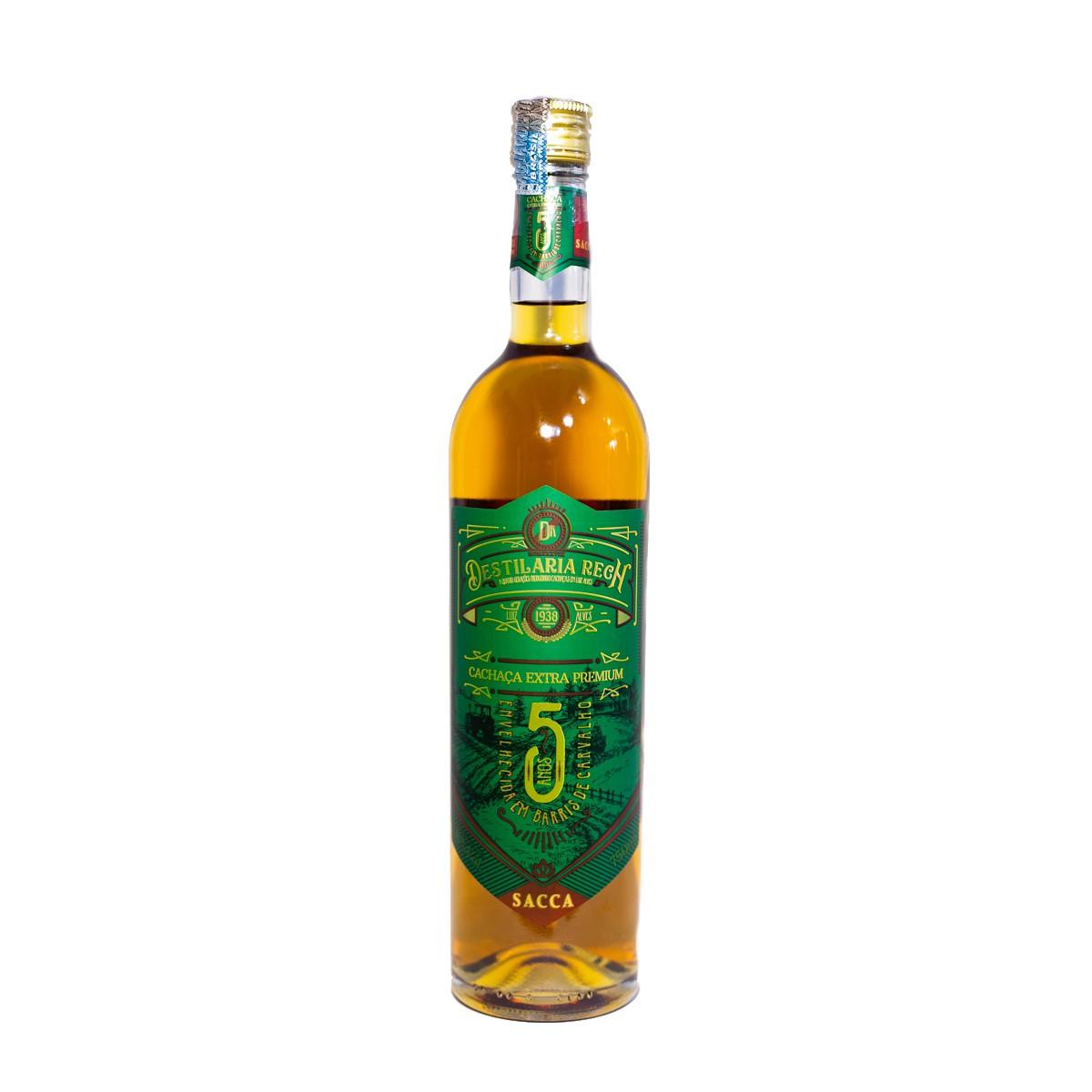 Cachaça Sacca Ouro Extra Premium  - 5 anos - Rech - 750 ml