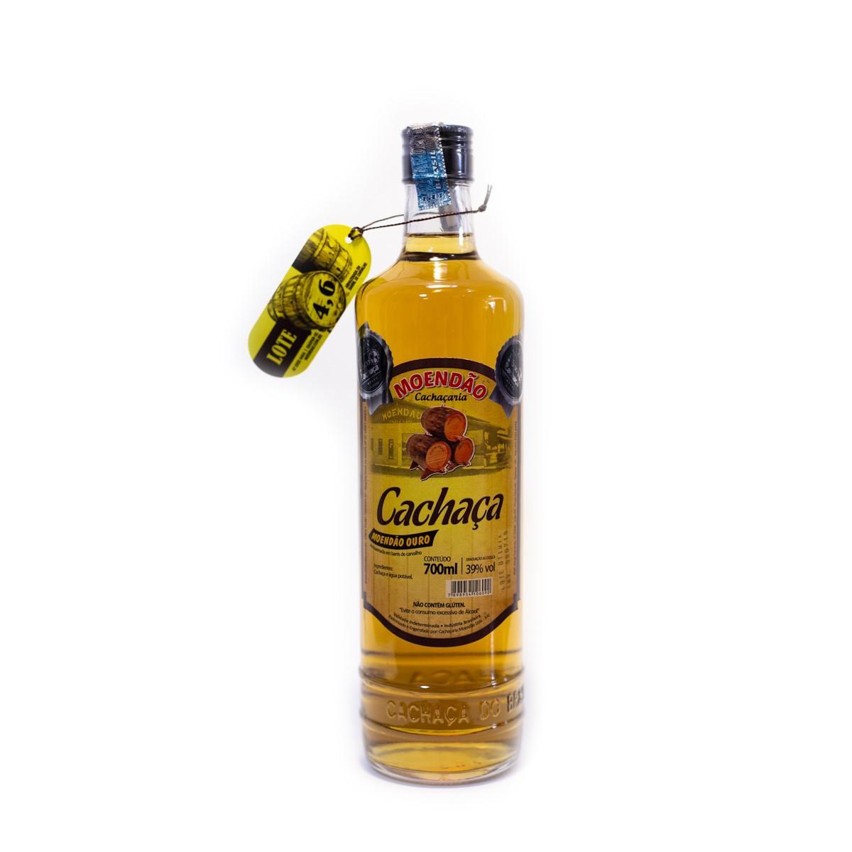 Cachaça Ouro - 4,6 anos - Moendão - 700 ml