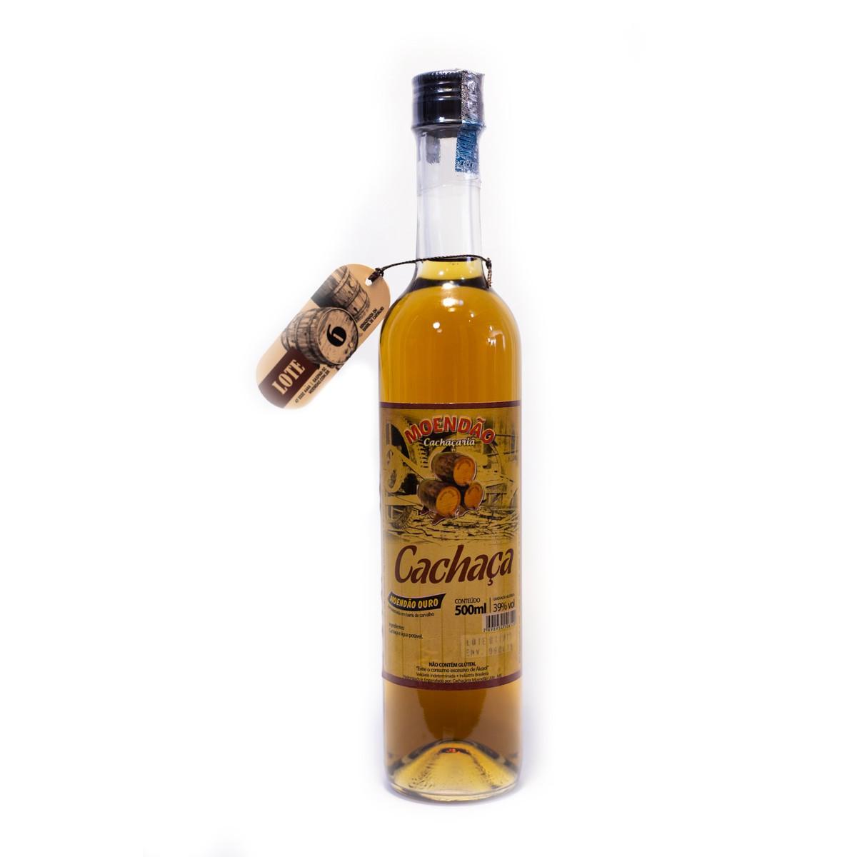 Cachaça Ouro - 6 anos - Moendão - 500 ml