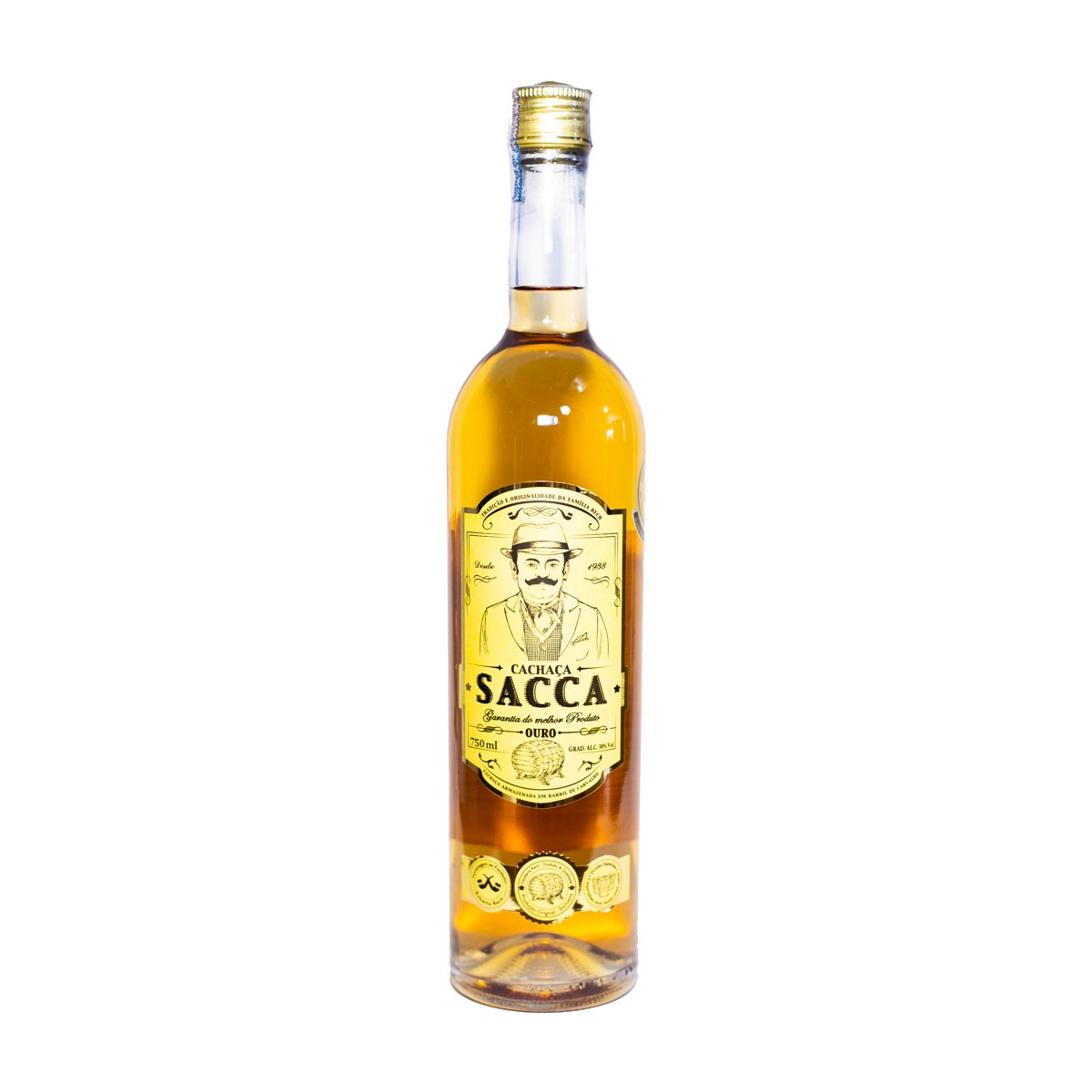 Cachaça Sacca Ouro - Rech - 750 ml