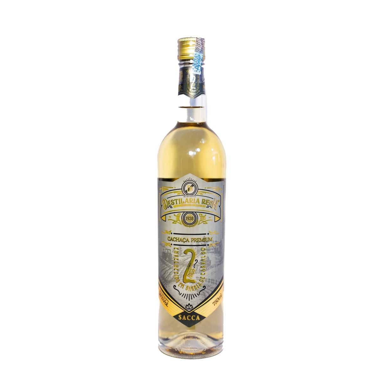 Cachaça Sacca Ouro Extra Premium - 2 anos - Rech - 750 ml