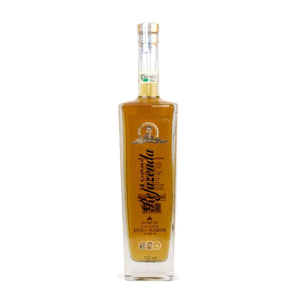 Cachaça Ouro Extra Premium Orgânica - 10 anos - Refazenda - 700 ml
