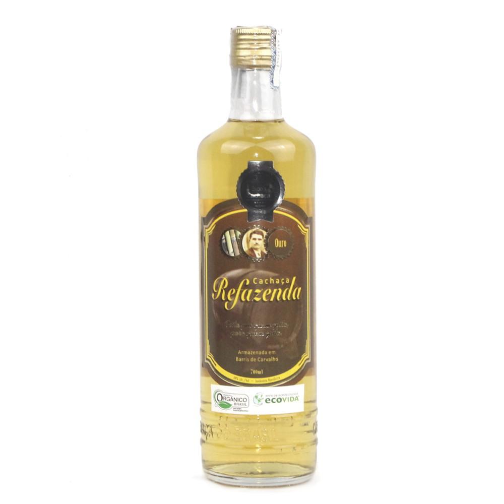Cachaça Ouro Orgânica - 5 anos - Refazenda - 700 ml