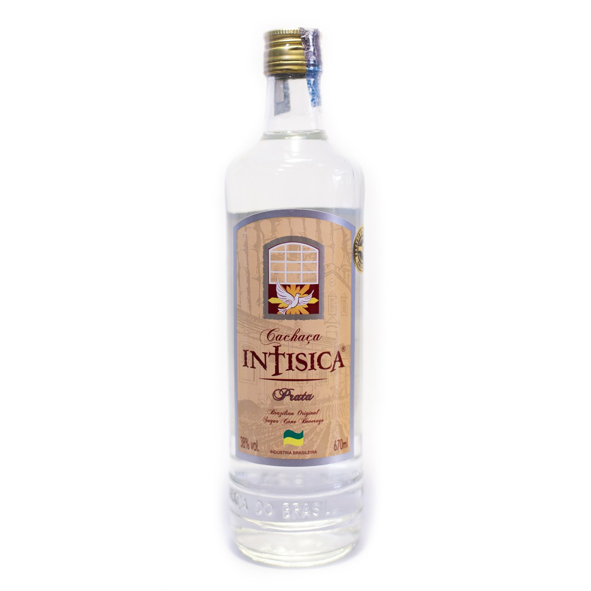 Cachaça Prata Intisica - 670 ml - Barril de Jequetibá