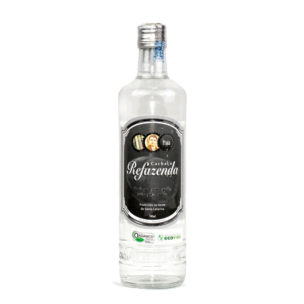 Cachaça Prata Orgânica - Refazenda - 700 ml