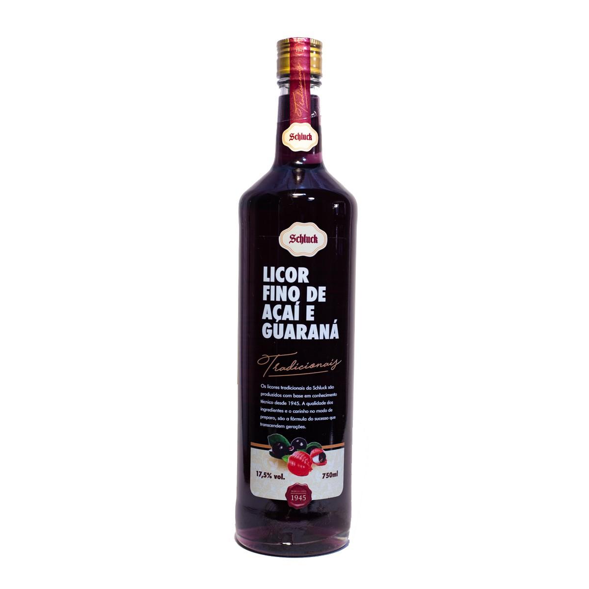Licor Fino de Açaí com Guaraná - Schluck - 750 ml