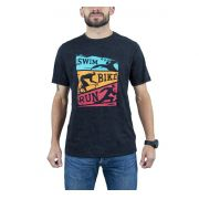 Camiseta Colorful Triathlon Masc - Preto - Woom 247
