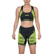 Top Compression X-Fit Mescla e Verde - Fem - 2019